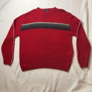 Nautica Crewneck Sweater Red size medium